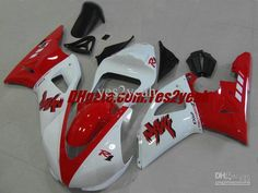 388.55$  Know more  - Injection mold Fairing kit for 2000 2001 YAMAHA YZF R1 YZF-R1 2000-2001 YZF1000 YZFR1 00 01 Red white Fairings set