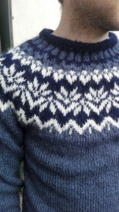 Fair Isle Knitting Patterns, Knitting Charts, Men's Sweaters, Streetwear, Diy And Crafts, Colour, Handmade, Fashion, Tricot