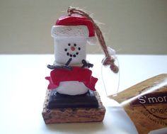 S'mores Blank Snowman Box of Four Ornaments For Personalization Crafts New  at MrsDinkerson's ~