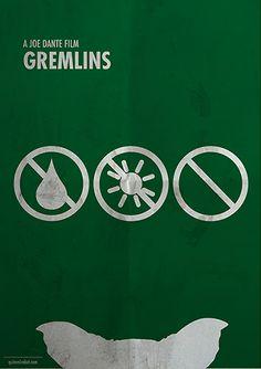 Gremlins (1984) ~ Minimal Movie Poster by Quim Marbet