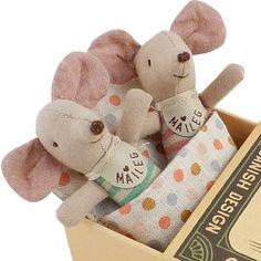 Maileg Baby Twin Mice in a Box