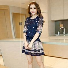 Buy 'Hanee – Smocked Floral Print Chiffon Dress' with Free International Shipping at YesStyle.com. Browse and shop for thousands of Asian fashion items from China and more!