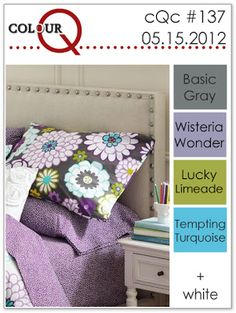 colourQ #137: May 2012 Basic Gray Wisteria Wonder Lucky Limeade Tempting Turquoise