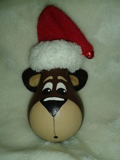 www.facebook.com/TracyGibsonHandmade Light bulb bear ornament