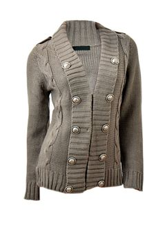 Jane Norman Military Cable Sweater, $24.09