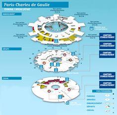 Dicas Práticas de Francês para Brasileiros: Mapa Aeroporto Charles de Gaulle e Seus Terminais