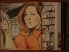 The Avengers Sketch Card Emma Peel by Elfie Lebouleux | eBay