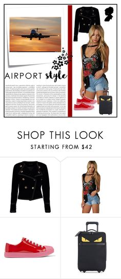"""""""Fly me to the moon....."""" by pink-roosje ❤ liked on Polyvore featuring Boohoo, Prada, Fendi, Oris and Post-It"""