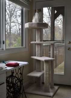 homemade cat tree instructions - Google Search