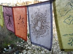 inspired by Buddhist prayer flags