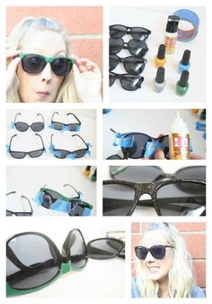 Nail Polish | 27 Inspired Ways To Decorate Your Sunglasses