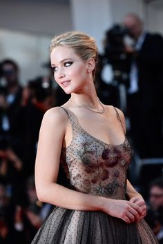 """Jennifer Lawrence at the premiere of """"Mother!"""" in Venice, 2017."""