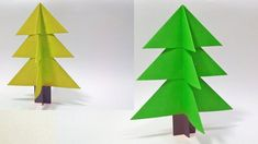 Paper Christmas Tree Making Idea - How To Make Easy and Beautiful Xmas Tree, In this video i show you how to make simple a Christmas Tree : ORIGAMI Christmas. Christmas Art Projects, Christmas Tree Crafts, Xmas Tree, Easy Crafts, Easy Diy, Arts And Crafts, Paper Crafts, Origami Christmas Tree Card, Christmas Cards