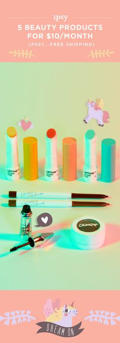Receive 5 beauty products every month! Makeup bags personalized just for you. ipsy was founded by Michelle Phan. Get great beauty offers. Subscribe now!