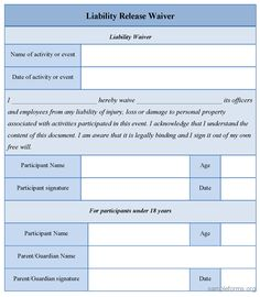 Free Liability Release Form Online Form Builder And Creator  No Login Required  Wufoo .