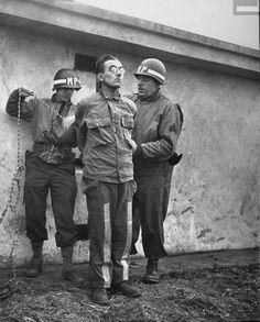 German Spy Gunther Billing Being Prepared for Execution, Bastogne, Belgium by  Unknown Artist