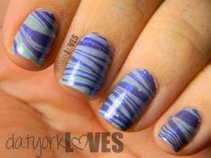 datyorkLOVES: Blue on Blue Hanukkah Water Marble Nails