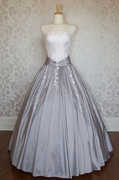 Strapless two tones ball gown. Can I be a princess just so I can wear this??