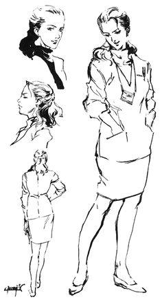 Naomi Hunter Sketch, Metal Gear Solid 1
