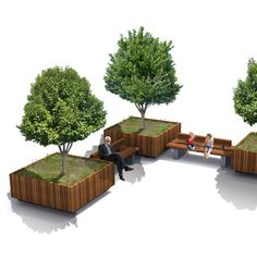 This Mobile Tree Planter will combine well with other Solid products of the Solid family, for example with Solid 10 Benches Architecture Concept Drawings, Architecture Building Design, Sustainable Architecture, Landscape And Urbanism, Landscape Elements, Garden Landscape Design, Front House Landscaping, Modern Landscaping, Landscaping Ideas