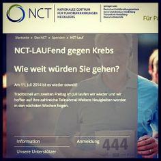 Heute hab ich mal was wirklich Wichtiges! Am 11.7. ist der NCT-Lauf gegen Krebs vom NCT Heidelberg. Dort könnt ihr einfach just for fun für nen guten Zweck laufen. Also lauft doch einfach mit!  http://www.triitfit.de/2014/06/mit-laufen-geld-sammeln.html