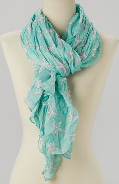 Seafoam Crinkle Starfish Scarf (so sad this is sold out!)