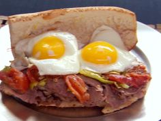 Paesano - Italian Beef Brisket with Fried Egg Recipe : Food Network - FoodNetwork.com