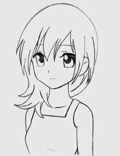 Awesome manga coloring pages simple anime, anime sketch, anime drawings sketches, easy manga Easy Manga Drawings, Manga Girl Drawing, Girl Drawing Easy, Anime Drawings Sketches, Anime Sketch, Pencil Drawings, Cartoon Drawings Of Girls, Chibi Girl Drawings, Learn Drawing