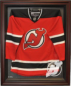 Caseworks New Jersey Devils Mahogany Jersey Display Case