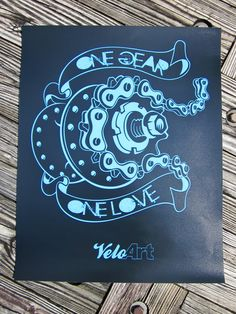 "16""x20"" One Gear One Love Bicycle Print Poster. $25.00, via Etsy. Art Print Digital Bicycle Bike Velo Fixie Hipster Cycling Track Velodrome Cycle pista poster print art"