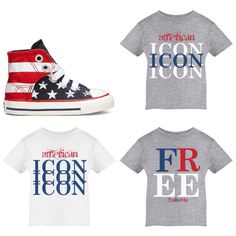 Custom tee options for the Fourth of July! The perks of having a mommy in fashion lol