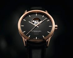 ELEGANCE AND HERITAGE - RAYMOND WEIL drapes the freelancer collection in a veil of black elegance, inviting couples to adorn themselves with their favourite timepieces Fancy Watches, Dream Watches, Expensive Watches, Cool Watches, Rolex Watches, Swiss Luxury Watches, Luxury Watches For Men, Watch Master, Raymond Weil