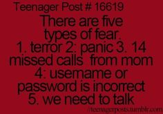We need to talk is the WORST! I get soo freaked out I'm like ummmm....... yes?