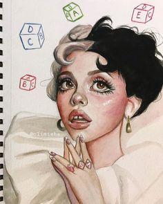 Art Drawings Sketches, Cute Drawings, Sketch Art, Doodle Drawings, Pretty Art, Cute Art, Melanie Martinez Photography, Melanie Martinez Drawings, Crybaby Melanie Martinez