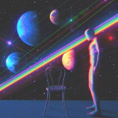 Dualvoidanima, a surreal aesthetic directly inspired by the eighties. Rainbow Aesthetic, Aesthetic Gif, Retro Aesthetic, Aesthetic Pictures, Aesthetic Wallpapers, Psychedelic Art, Arte Alien, Vaporwave Art, Psy Art