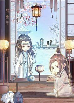 The Untamed fanart Anime Chibi, Fantasy Heroes, Digital Painting Tutorials, Kawaii, Cute Chibi, Art Pages, Chinese Art, Asian Art, Diy Art