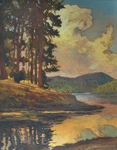 Lake Arrowhead by Jan Schmuckal Oil