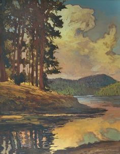 Lake Arrowhead by Jan Schmuckal Oil