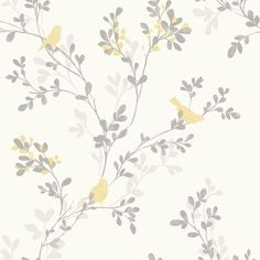 Find wallpaper close-out sale pricing for popular wallpaper patterns online courtesy of Wallpaper Warehouse. Botanical Wallpaper, Bird Wallpaper, Kitchen Wallpaper, Wallpaper Samples, Wallpaper Roll, Pattern Wallpaper, Bathroom Wallpaper Yellow, Cottage Wallpaper, Wallpaper Ideas