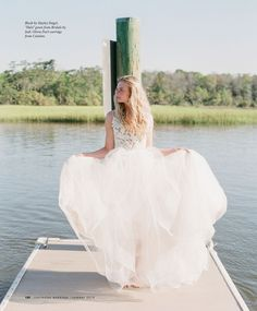 "The ""Halo"" dress by Blush by Hayley Paige, as featured in Charleston Weddings Summer 2016 issue! So gorgeous!"
