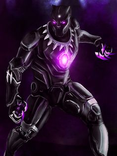 Black Panther in Iron Man suit by MrNightangel on @DeviantArt