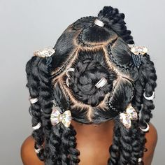 New hairstyle inspo for ya'll! Had to jump on this oldschool hairstyle with a newschool twist before Janelle outgrows it! 😍😍😍 - Hairstyle inspired by: 👌🏾 - Cute Little Girl Hairstyles, Baby Girl Hairstyles, Natural Hairstyles For Kids, Kids Braided Hairstyles, Princess Hairstyles, Toddler Hairstyles, Black Hairstyles, Curly Hair Styles, Natural Hair Styles