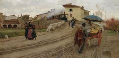 Adolfo Tommasi (Livorno 1851 - Firenze 1933) Petriolo presso Firenze, 1884 circa