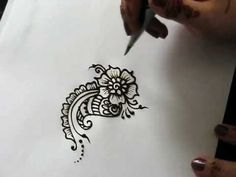 paisley+flower+designs | com Heather demonstrates how to do a flower (with shading) and paisley ...