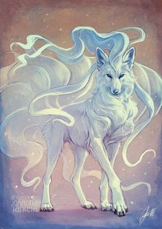 Wolf Zeichnung - Comic/ Zeichnung - Home Cute Fantasy Creatures, Mythical Creatures Art, Magical Creatures, Mystical Creatures Drawings, Fantasy Wolf, Fantasy Art, Fantasy Comics, Cute Animal Drawings, Cute Drawings