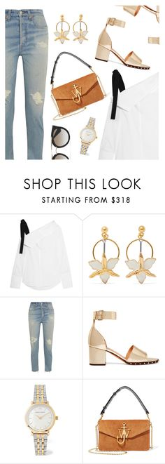 """""""Outfit of the Day"""" by dressedbyrose ❤ liked on Polyvore featuring Proenza Schouler, Marni, RE/DONE, Valentino, Larsson & Jennings, J.W. Anderson, Prada, ootd and polyvoreeditorial"""