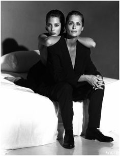 Christy Turlington & Lauren Hutton by Steven Meisel 1991