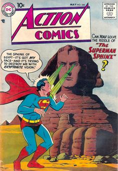 "Action Comics #240""Secret of the Superman Sphinx""Cover art by Curt Swan and Stan Kaye"