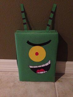 Plankton (spongebob) valentine box