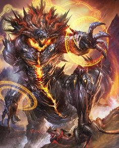 Mermaids, dragons, demons, oh my! Dark Fantasy Art, Fantasy Artwork, Dark Art, Monster Design, Monster Art, Fantasy Creatures, Mythical Creatures, Guerrero Dragon, Demon Art